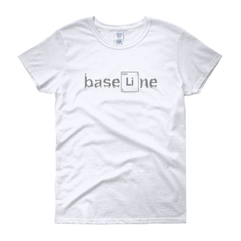 BaseLine Lithium Bipolar Awareness Women's Short Sleeve T-Shirt + House Of HaHa Best Cool Funniest Funny Gifts