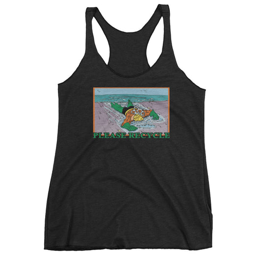 Please Recycle Women's Aquaman Parody Tank Top + House Of HaHa