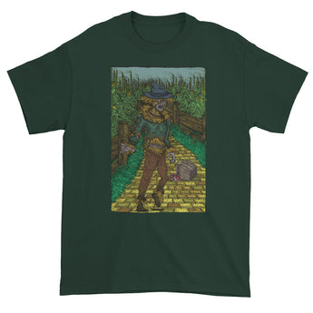 Walkers Of Oz: Zombie Wizard of Oz Cornfield Parody  Men's Short Sleeve T-Shirt + House Of HaHa Best Cool Funniest Funny Gifts
