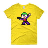 Joker Perler Art Women's Short Sleeve T-Shirt by Silva Linings + House Of HaHa Best Cool Funniest Funny Gifts