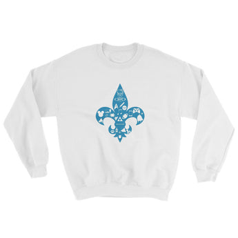 Awesome Geeks Geeky Passions Fleur de Lis Sweatshirt + House Of HaHa Best Cool Funniest Funny Gifts