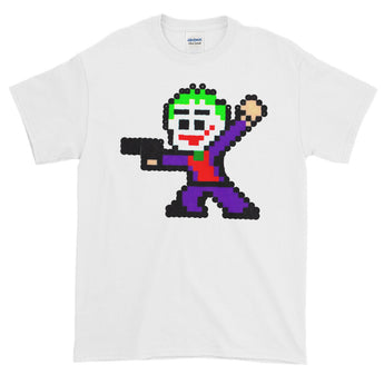 Joker Perler Art Short-Sleeve Men's T-Shirt by Silva Linings + House Of HaHa Best Cool Funniest Funny Gifts