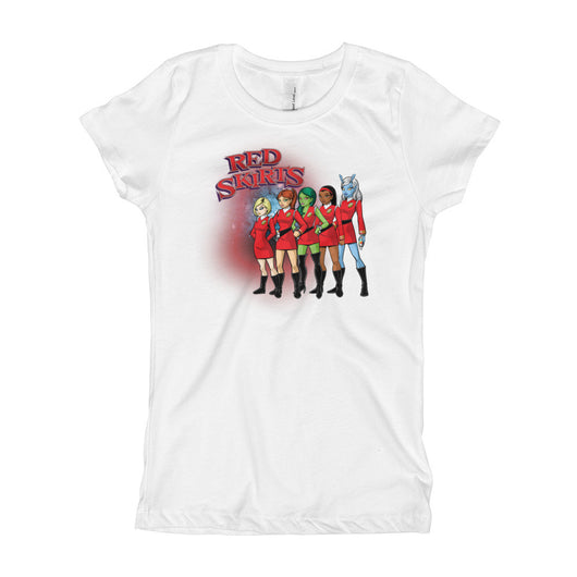Red Skirts Security Team Girl's Princess T-Shirt + House Of HaHa