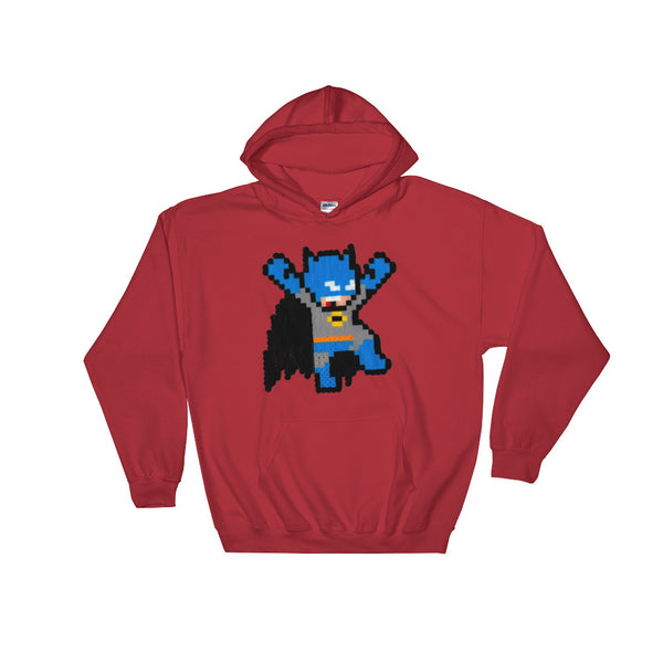 Batman Perler Art Hooded Sweatshirt by Silva Linings + House Of HaHa Best Cool Funniest Funny Gifts