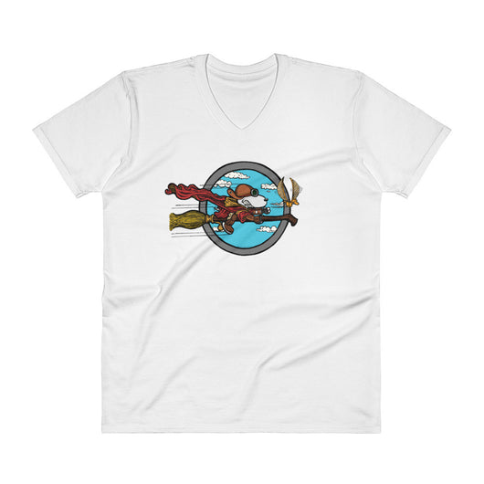 Wizard Flying Ace Men's V-Neck T-Shirt + House Of HaHa