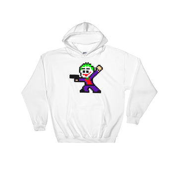 Joker Perler Art Hooded Sweatshirt by Silva Linings + House Of HaHa Best Cool Funniest Funny Gifts
