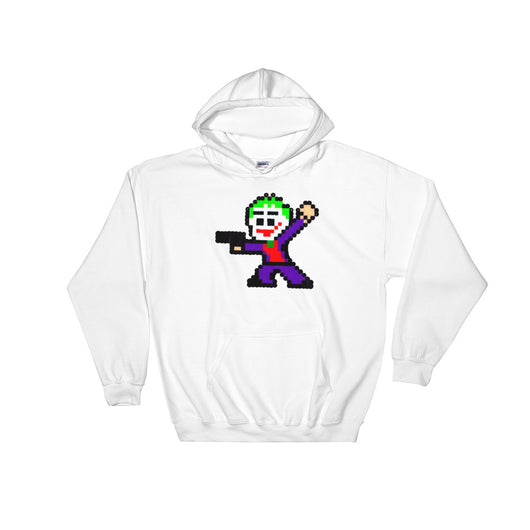 Joker Perler Art Hooded Sweatshirt by Silva Linings