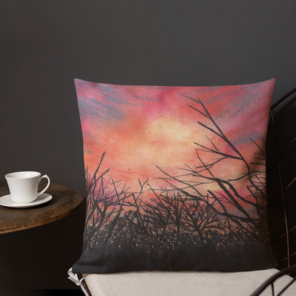 Hot Wells Dunes Sunset Premium Pillow