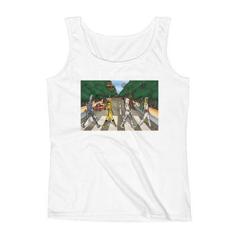 Bounty Road Street View Beatles Star Wars Mash Up Parody Ladies' Tank Top + House Of HaHa Best Cool Funniest Funny Gifts