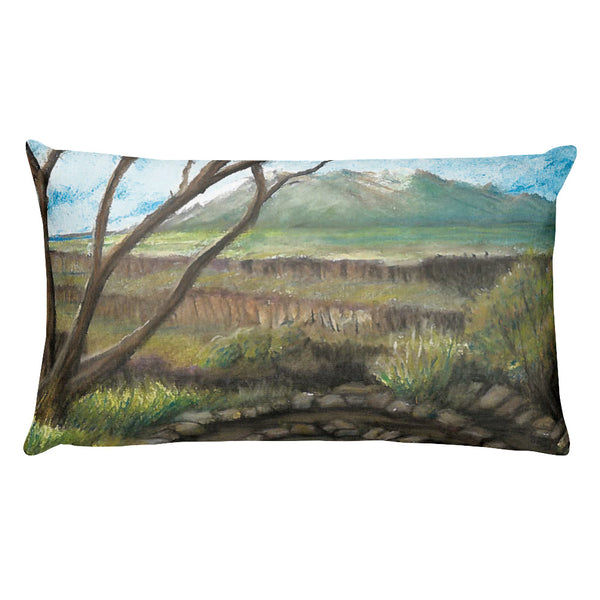 Rio Grande Del Norte National Monument New Mexico Rectangular Pillow by Melody Gardy + House Of HaHa Best Cool Funniest Funny Gifts