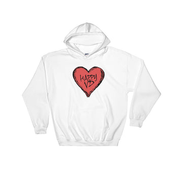 Happy VD Valentines Day Heart STD Holiday Humor  Heavy Hooded Hoodie Sweatshirt + House Of HaHa Best Cool Funniest Funny Gifts