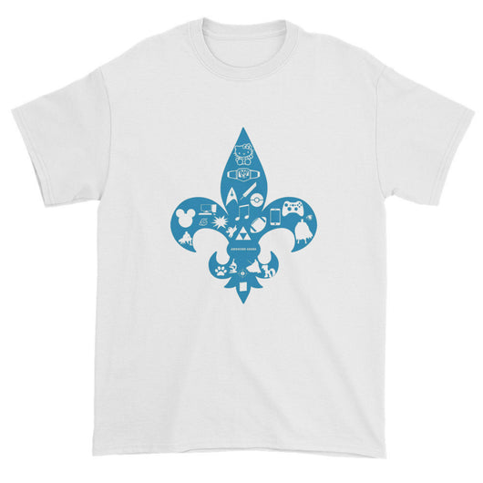Awesome Geeks Geeky Passions Fleur de Lis Short Sleeve T-Shirt + House Of HaHa Best Cool Funniest Funny T-Shirts
