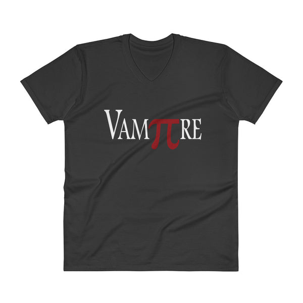 VamPIre Pi Mathematical Constant Algebra Pun V-Neck T-Shirt + House Of HaHa Best Cool Funniest Funny Gifts