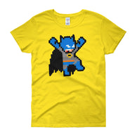 Batman Perler Art Women's Short Sleeve T-shirt  by Silva Linings + House Of HaHa Best Cool Funniest Funny Gifts