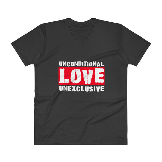 Unconditional Love Unexclusive Family Unity Peace V-Neck T-Shirt + House Of HaHa Best Cool Funniest Funny T-Shirts