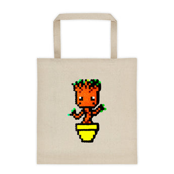 Baby Groot Perler Art Tote Bag by Aubrey Silva + House Of HaHa Best Cool Funniest Funny Gifts