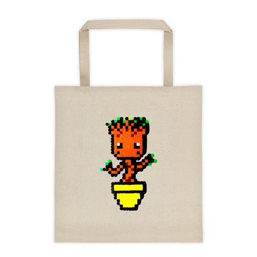 Baby Groot Perler Art Tote Bag by Aubrey Silva + House Of HaHa Best Cool Funniest Funny T-Shirts