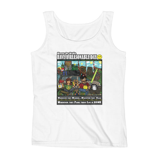 Have A Reasonable Day Camping Across America Ladies' Tank by Aaron Gardy