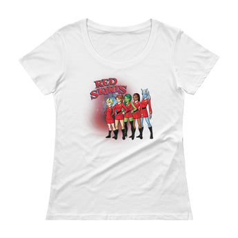 Red Skirts Security Team Ladies' Scoopneck Women's T-Shirt + House Of HaHa Best Cool Funniest Funny Gifts