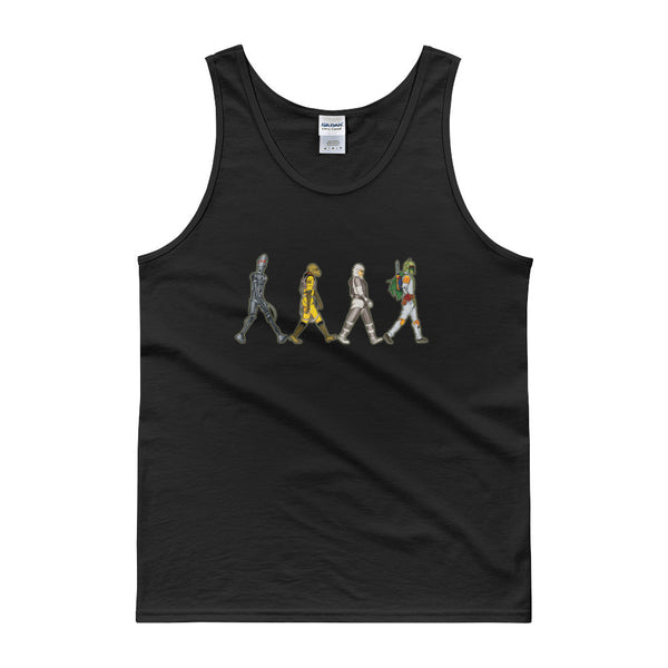 Bounty Road's Fab Four Beatles Star Wars Mash Up Parody Men's Tank Top + House Of HaHa Best Cool Funniest Funny Gifts