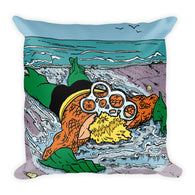 Please Recycle Death of Aquaman Parody Square Pillow + House Of HaHa