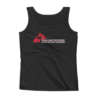 Ninjas without Borders Martial Arts Ninjutsu Fighter Ladies' Tank Top + House Of HaHa Best Cool Funniest Funny Gifts