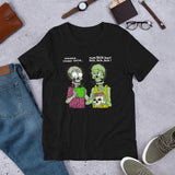 Vegan Zombie Unisex T-Shirt + House Of HaHa Best Cool Funniest Funny Gifts