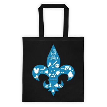 Awesome Geeks Geeky Passions Fleur de Lis Tote bag + House Of HaHa Best Cool Funniest Funny Gifts