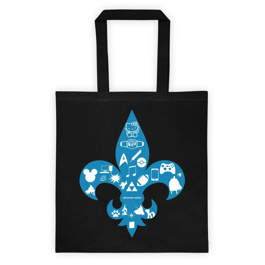 Awesome Geeks Geeky Passions Fleur de Lis Tote bag + House Of HaHa