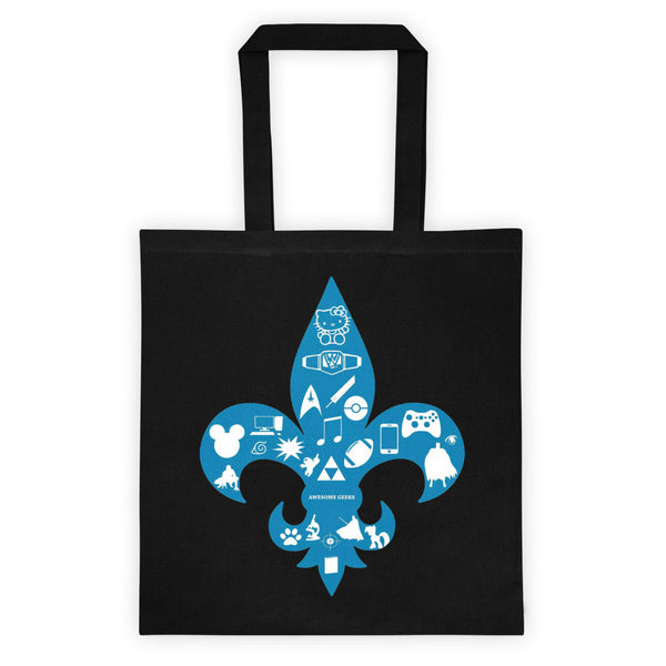 Awesome Geeks Geeky Passions Fleur de Lis Tote bag + House Of HaHa Best Cool Funniest Funny T-Shirts