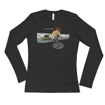 April in New York TMNT Parody Are You a Ninja? Sewer Turtle Ladies' Long Sleeve T-Shirt + House Of HaHa Best Cool Funniest Funny Gifts