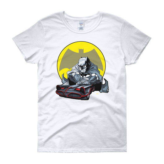 Lil' Batmobile Women's Short Sleeve T-Shirt + House Of HaHa