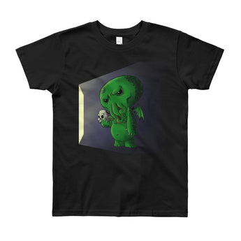 Midnight Snack Chibi Cthulhu Youth Short Sleeve T-Shirt - Made in USA + House Of HaHa Best Cool Funniest Funny Gifts