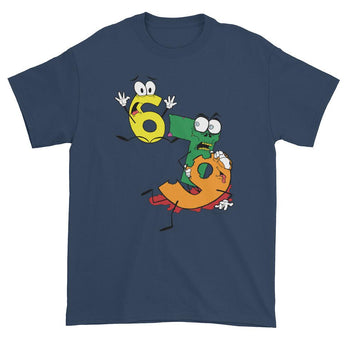 Why was 6 Afraid of 7 Seven Ate Nine Cute Zombie Pun Short sleeve t-shirt + House Of HaHa Best Cool Funniest Funny Gifts