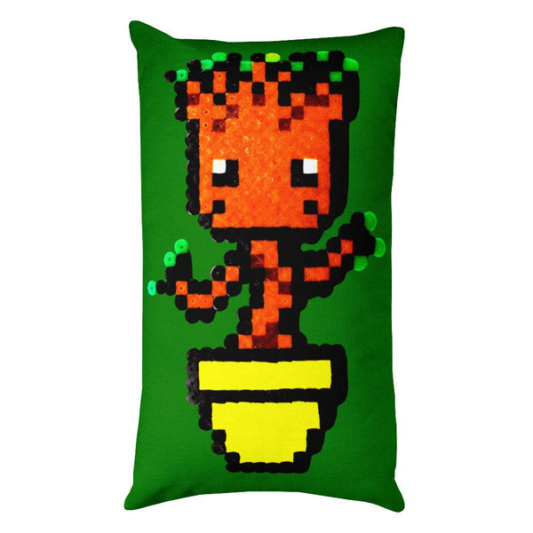 Baby Groot Perler Art Rectangular Pillow by Aubrey Silva + House Of HaHa Best Cool Funniest Funny T-Shirts