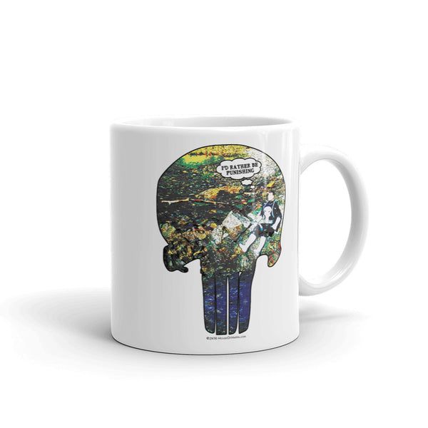 I'd Rather Be Punishing Punisher Fishing Parody Mug + House Of HaHa