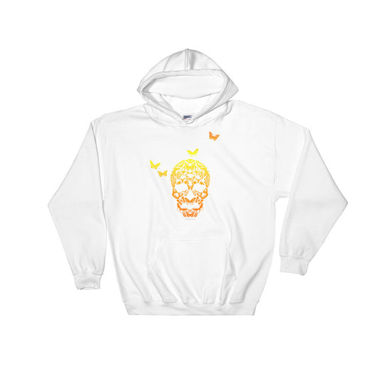 Butterfly Skull Men's Heavy Hooded Hoodie Sweatshirt + House Of HaHa