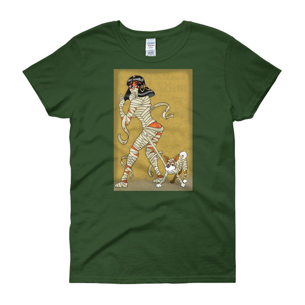 Mummy Pin-Up Women's Short Sleeve T-Shirt + House Of HaHa Best Cool Funniest Funny Gifts