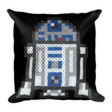 R2-D2 Perler Art Square Pillow by Aubrey Silva + House Of HaHa Best Cool Funniest Funny Gifts