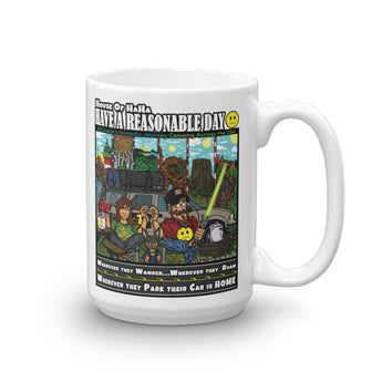 Have A Reasonable Day Camping Across America Mug by Aaron Gardy + House Of HaHa Best Cool Funniest Funny Gifts