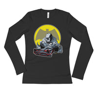 Lil' Batmobile Ladies' Long Sleeve Women's T-Shirt + House Of HaHa Best Cool Funniest Funny T-Shirts