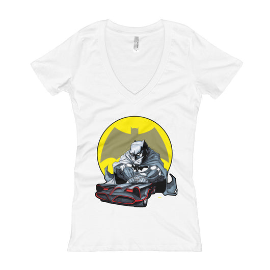 Lil' Batmobile Women's V-Neck T-Shirt + House Of HaHa