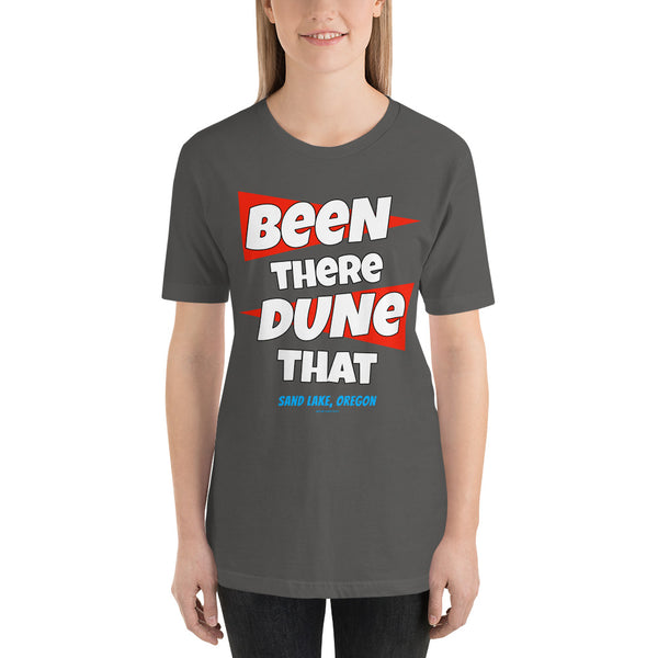 Been There Dune That Sand Lake Oregon ATV Flag Short-Sleeve Unisex T-Shirt + House Of HaHa Best Cool Funniest Funny Gifts