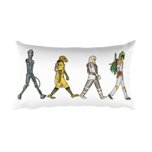 Bounty Road's Fab Four Beatles Star Wars Mash Up Parody Rectangular Pillow + House Of HaHa Best Cool Funniest Funny T-Shirts