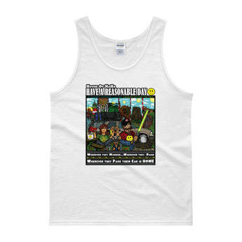Have A Reasonable Day Camping Across America Men's Tank top by Aaron Gardy + House Of HaHa Best Cool Funniest Funny Gifts