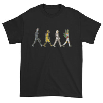 Bounty Road's Fab Four Beatles Star Wars Mash Up Parody Men's Short Sleeve T-Shirt + House Of HaHa Best Cool Funniest Funny Gifts