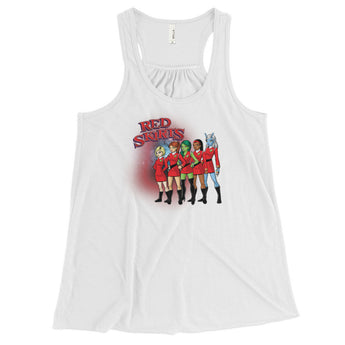 Red Skirts Security Team Women's Flowy Racerback Tank + House Of HaHa Best Cool Funniest Funny Gifts