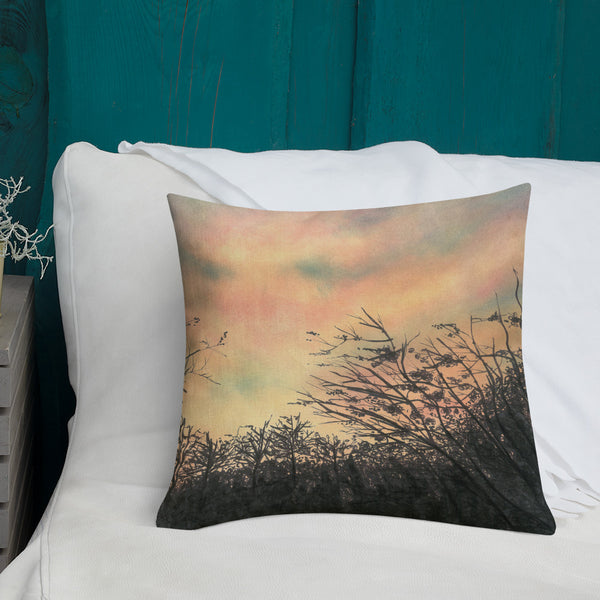 Sunset Silhouette Premium Decorative Throw Pillow