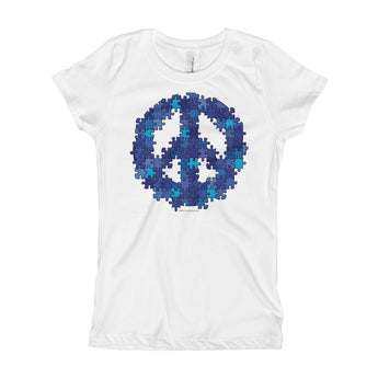 Puzzle Peace Sign Autism Spectrum Asperger Awareness Girl's Princess T-Shirt + House Of HaHa Best Cool Funniest Funny Gifts