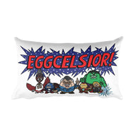Eggcelsior! Marvel's Avengers Stan Lee Parody Portrait Excelsior Rectangular Pillow + House Of HaHa Best Cool Funniest Funny Gifts